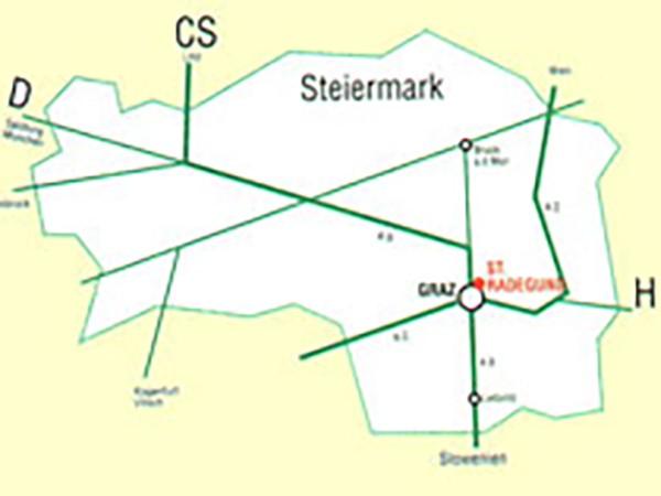 St. Radegund Lageplan